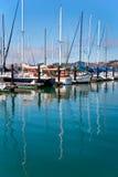 SAUSALITO, CALIFORNIA/USA - SIERPIEŃ 6: Widok marina w S Obrazy Royalty Free