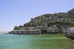 Sausalito Hillside Homes Stock Photo