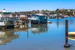 Sausalito Houseboats, California Stock Photo