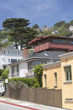 Sausalito Kalifornien hus på en kulle Arkivfoton