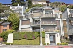 Sausalito Kalifornien hus på en kulle Royaltyfria Foton