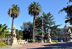 Sausalito Main Plaza Stock Image