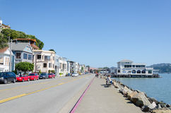Sausalito. Is a San Francisco Bay Area city in Marin County, California.  is 8 miles (13 km) south-southeast of San Rafael, at an elevation of 13 feet (4 m) Stock Images