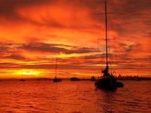 Sausalito solnedgång Arkivfoton