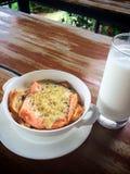 Sause crème saumoné avec du fromage Photo libre de droits