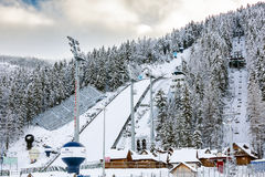 Saut à skis dans Zakopane, Pologne Images stock