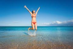 saut de joie Image stock