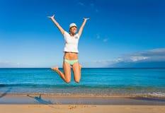 saut de joie Photographie stock libre de droits