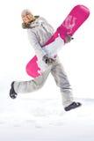 Saut de l'hiver d'air Photos libres de droits