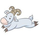 Saut de la bande dessinée de chèvre Image stock
