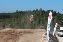 Saut de motocross Photographie stock