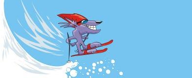 saut de ski Images stock