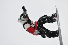 Saut de Snowboard Photo libre de droits