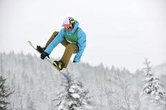 Saut de Snowboard Images stock