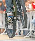 Saut de vélo de montagne Images libres de droits