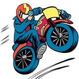 Saut de vélo de saleté Image stock