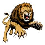 Saut du lion illustration libre de droits