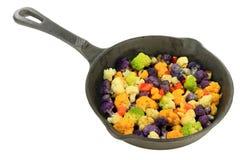 Saut�ed multicolored Cauliflower Royalty Free Stock Photography