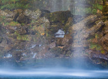 Saut Girad瀑布,法国 免版税库存图片