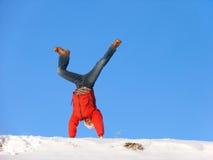 Saut périlleux de l'hiver photographie stock libre de droits