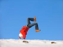 Saut périlleux de l'hiver Photo stock