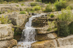 Sautadet waterfall. The waterfall of the river Cèze in Gard Stock Images