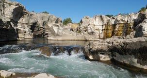 The Sautadet waterfalls, river Ceze, La Roque sur Ceze, Gard department,Occitanie, France.