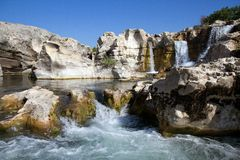 Sautadets Waterfalls on the Ceze river Royalty Free Stock Photography