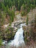 Sautdu Doubs grootste waterval in het gebied van Doubs stock afbeelding