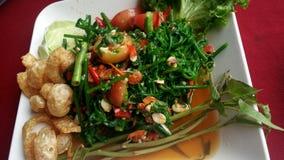 Saute меню veggies еды улицы Таиланда Стоковое фото RF