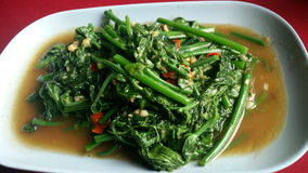 Saute меню veggies еды улицы Таиланда Стоковое Изображение