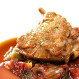 Saute of Chicken a'la Basque Stock Photo