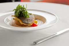 Saute fillet of seabass (mahi mahi) Stock Photos
