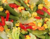 saute grönsaken arkivbilder