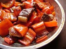 Saute kryddig kokkonst för Cantonese spanska peppar royaltyfria foton