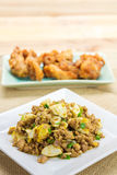 Saute Minced pork with salty egg Stock Photography
