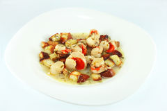 Saute scallops Royalty Free Stock Photography