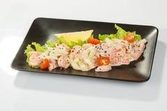 Saute Shrimps Stock Photo