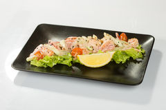 Saute Shrimps Royalty Free Stock Photos