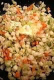Saute veggies Stock Image