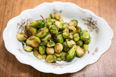 Sauted Brussel Sprouts Royalty Free Stock Images
