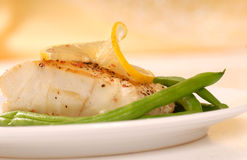 Sauted cod filet Stock Image