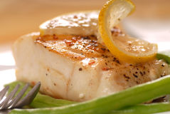 Sauted cod filet Royalty Free Stock Photo