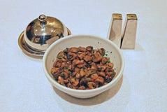 Sauteed гарнир гриба с перцем, солью и маслом стоковые изображения