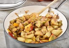 Sauteed клин картошки стоковое изображение rf