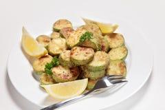 Sauteed кольца courgette или zucchini Стоковое Изображение