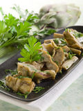 Sauteed artichoke Royalty Free Stock Images