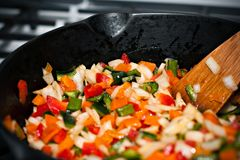 Sauteed Bell Peppers Royalty Free Stock Photography