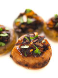 Sauteed button mushrooms Stock Photography