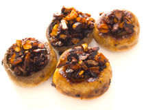 Sauteed button mushrooms Stock Images